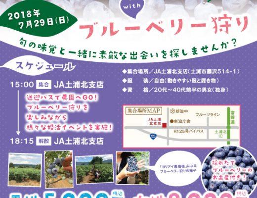 【台風の為中止】5周年記念イベント7月29日(日)『ブルーベリー狩りwith婚活パーティー』